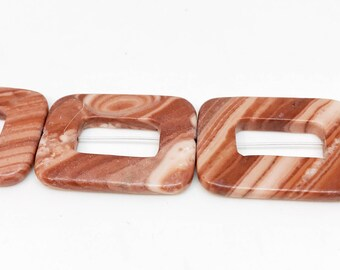 Jasper Square Beads In Beautiful Shades of Browns & Tans
