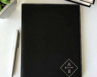 Personalized Leather Padfolio, Corporate Gift, Husband Gift, Boyfriend Gift, Monogram, Groomsman Gift, Personalized Journal, Christmas Gift