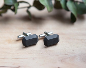 Concrete Cufflinks (dark)
