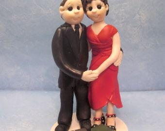 Custom wedding cake topper, Bride and groom cake topper, personalized cake topper, Mr and Mrs cake topper, casual cake topper