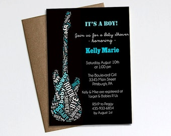 Rock a Bye Baby Shower invitation  - Printable
