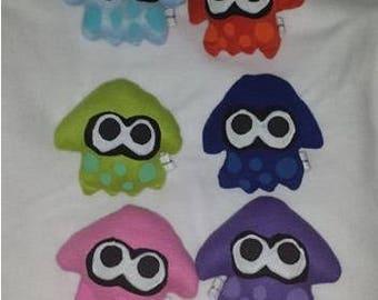 Custom Handmade  Splatoon Sanei Squid Plushie Plush