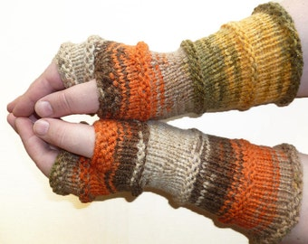 Knit Fingerless gloves   Arm warmers   Womens Fingerless   Long Fingerless Mittens   Wrist warmers Hand warmers