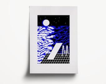 Illustration art. High quality print on paper.