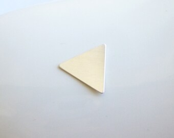 Sterling Silver Triangle Stamping Blank -- 1 Piece --  larger 15mm 24g No Holes -- HBSL2606