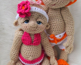 Crochet Pattern Beach Wear Doll Clothes Set for So Cute Baby by Teri Crews Wool and Whims Instant Download PDF Format