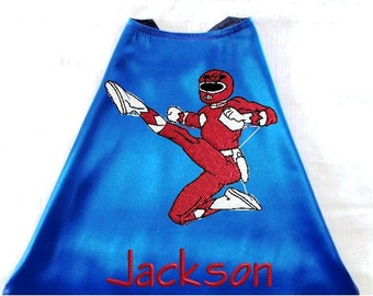 Kid's Super Hero Cape,  Embroidered Personalized with Monogram Royal Blue