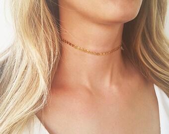 Gold choker necklace, Gold tattoo necklace, Boho choker necklace, Coin choker, Bohemian necklace, Layering necklace, Dainty choker necklace