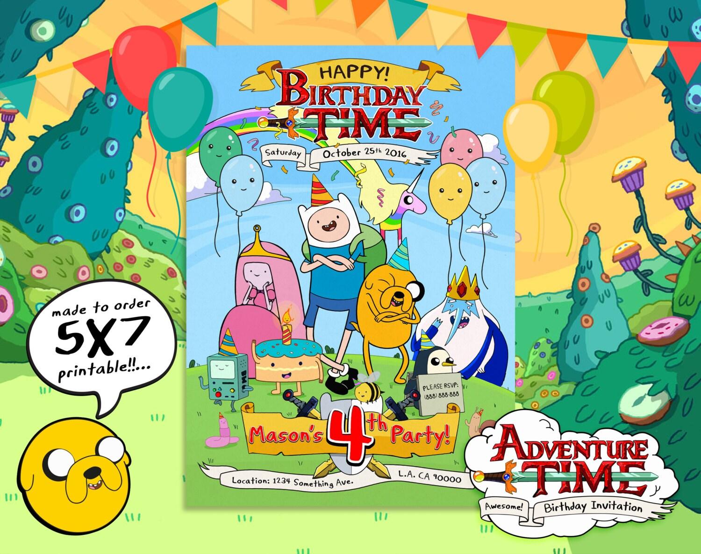 Adventure Time Invitation Adventure Time Birthday Adventure