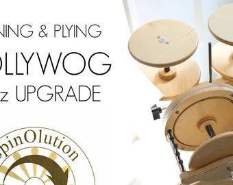 spinning wheel - spinolution - pollywog - upgrade - 12 oz upgrade 1 bobbin
