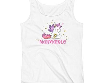 Unicorn Namaste Cute Yoga Tank Top