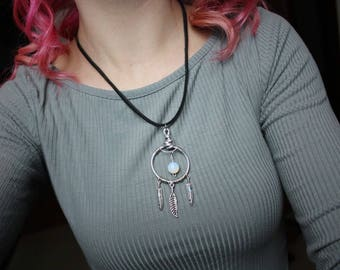 Dream catcher pendant necklace.