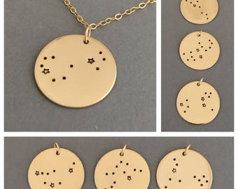 Constellation Necklace in Gold, Rose Gold, or Silver