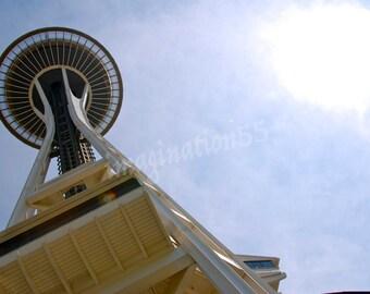 Space Needle Seattle Washington Photography Digital Download