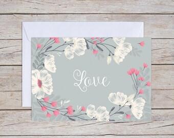 Love - A6 Greeting Card, Wedding Card, Anniversary Card