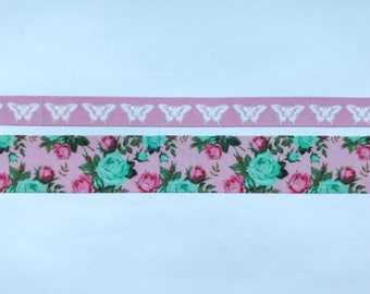 "Skinny Butterfly (10mm) and Wide Floral (20mm) Washi Tape 24"" Sample Set - Bobbins"