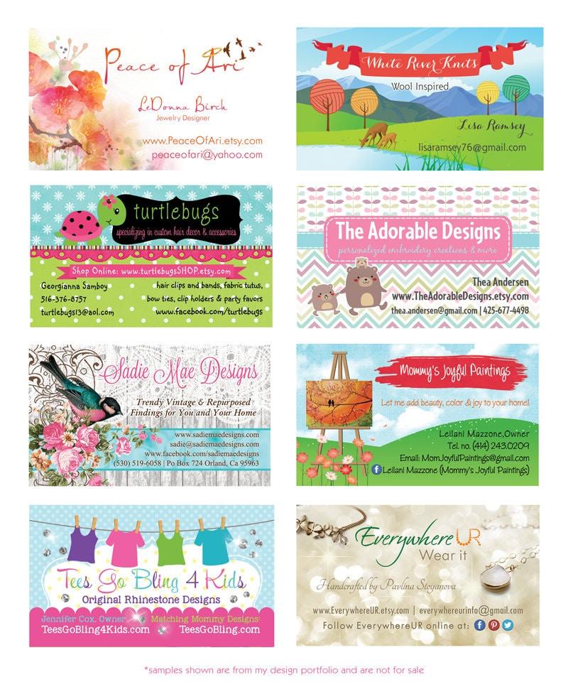 Business Card Design Custom Graphic Design Stationery