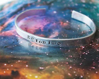 Geronimo! Eleventh Doctor - Doctor Who Inspired Cuff Bracelet