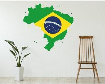 Brazil wall decal sticker, deco, mural, vinyl wall art