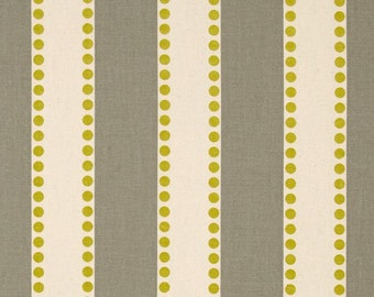 Grey yellow Stripe Fabric by the Yard Premier Prints LULU SUMMERLAND natural green cotton upholstery home decor - 1 yard or more - SHIPSFAST