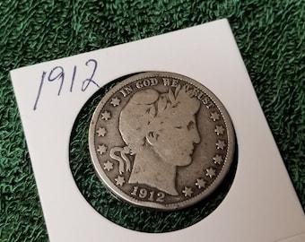1912 Barber Half dollar  very good condition