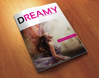 12 Page A3 Size InDesign Dreamy Fashion Magazine