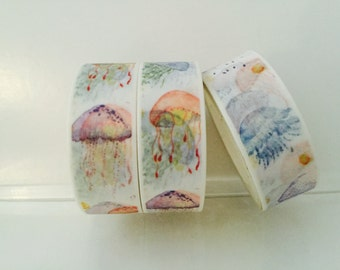 Watercolor Jellyfish Washi Tape