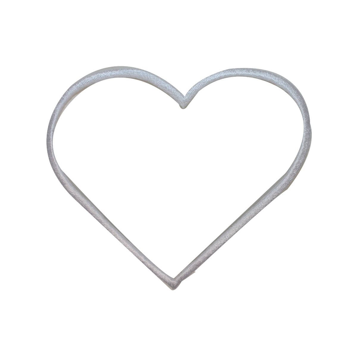 Id 3282c white heart outline patch love shape symbol zoom buycottarizona Image collections