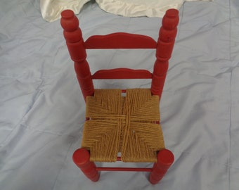 14-18 Inch Vintage Red Doll Chair for American Girl Dolls - Our generations Dolls-Kidz N Cats Dolls-Wellie Wishers