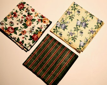 Set of 3 Longaberger Napkins/Liners