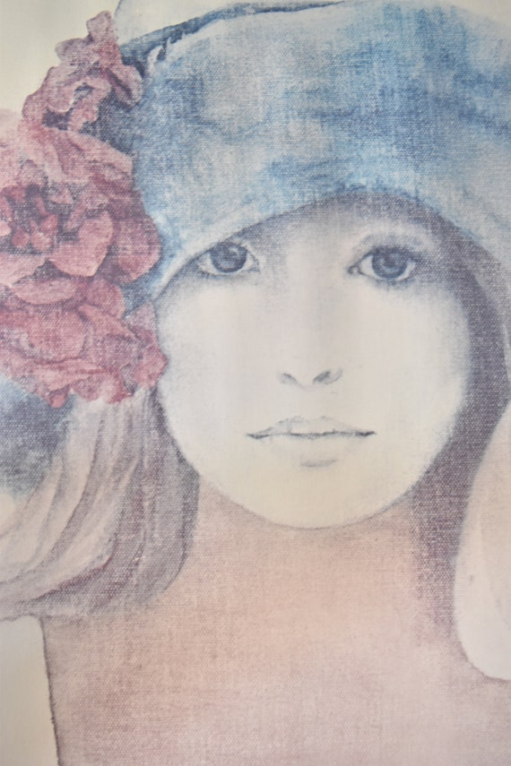 Christine Rosamond wall hanging framed litho print of a lady | poster