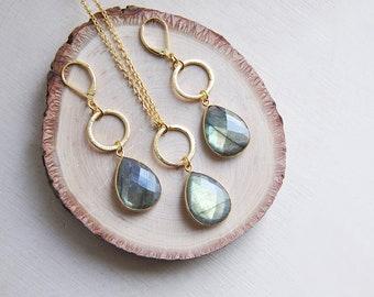 Labradorite Earrings, Labradorite Necklace, Labradorite Jewelry, Stone Earrings, Natural Stone, Flash Labradorite, Gifts for her, Boho