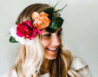 Lush Fuschia Flower Crown