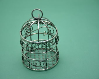 2pcs 75mm(height)x45mm(diameter) 3D Bird Cage Antique Silver Retro Pendant Charm For Jewelry Pendant