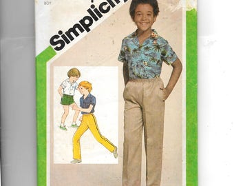 Simplicity Boy's Shirt and Pull-On Pants or Shorts Pattern. 9887