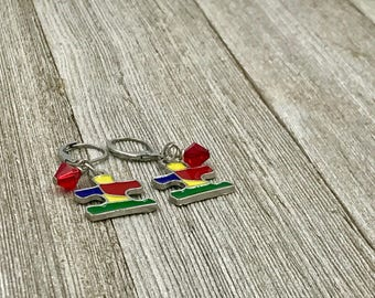 Free Shipping,Autism Awareness Earrings,autism puzzle earrings,handmade autism earrings,awareness earrings,autism puzzles,autism jewelry