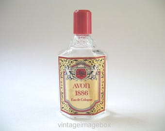 Vintage Avon 1886 Eau de Cologne Perfume Bottle, Cherub Angels Label