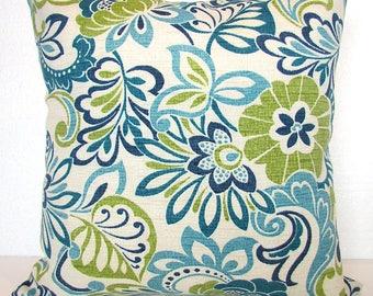 Blue Outdoor Lime green Outdoor Throw Pillow Covers Lime Teal Outdoor pillow Covers 16 18x18 20 Green Tropical Pillows