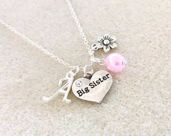 Personalized big sister gift from new baby announcement future big sister necklace new big sister birthday gift ideas baby shower gift