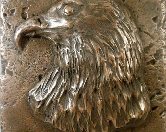 "Bronze Wildlife (Eagle) 4""x4"" Decorative Wall Tile"