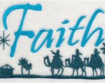 Faith Towel - Christmas Towel - Embroidered Towel - Flour Sack Towel - Hand Towel - Bath Towel  - Apron