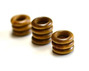 10 Coconut Ring Dreadlock Beads 11mm Big Hole Beads Dreads Hair