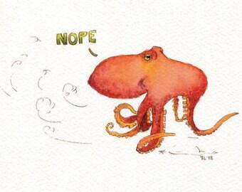Nopetopus Druck-Postkarte