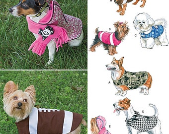Simplicity 1239 Have fun dressing your dog in these adorable clothes for small, medium and large size dogs. New and uncut.