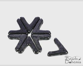 10 pcs AVA Metallic Hematite, 3-Hole Beads 10x5x3 mm (10974)