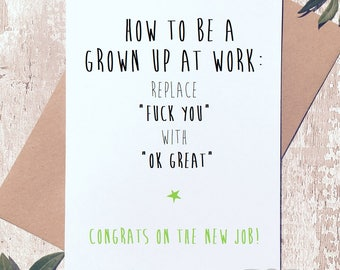 Congratulations cards for new job vatozozdevelopment congratulations cards for new job funny new job card etsy congratulations cards for new job m4hsunfo