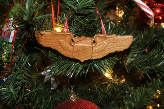 US Air Force,  Pilot Wings,  Christmas Ornament, air force pilot, Aviation Art, Aviation pilot wings, Aviation wings, Pilot Christmas, 3D