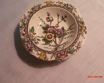 """Alfred Meakin Medway Brown Decor 5 1/2"""" Cereal Bowls (3)"""
