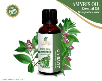 100% Pure Natural Amyris (West Indian Sandalwood) Essential Oil - Sheer Essence - Therapeutic Grade Amyris Oil 5ml To 500ml Free Shipping
