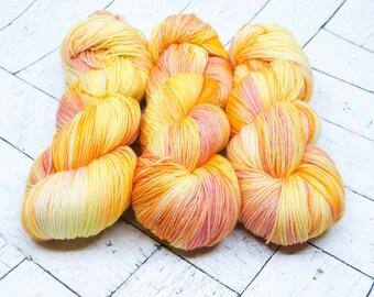 Rainbow Sherbet Hand-dyed Superwash Sock Yarn
